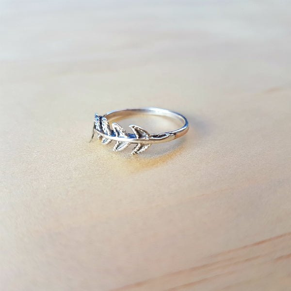 Arrow Tail Silver Ring - Inspired Tribe Silver Jewellery