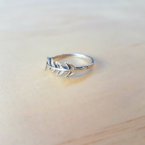 Arrow Tail Silver Ring