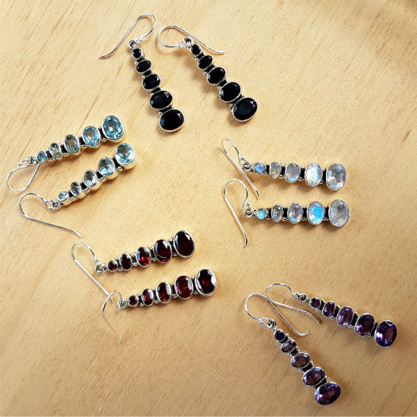 Bella Multi Stone Earrings