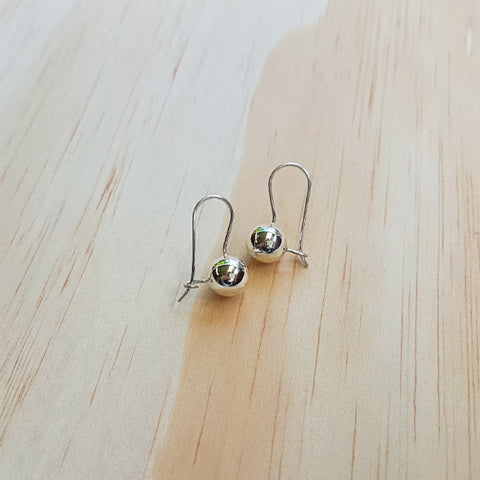 Classic Contemporary Drop Ball Earrings - Inspired Tribe Silver Jewellery