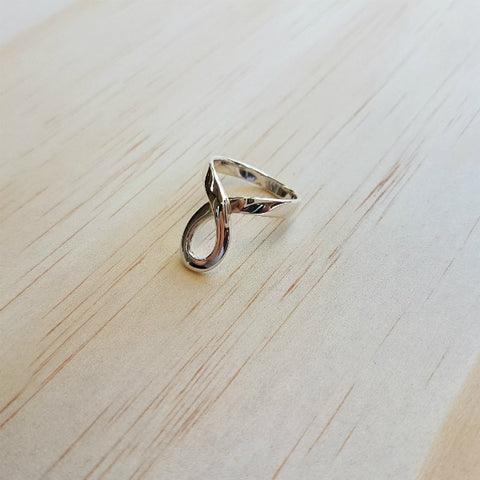 Elegant Silver Loop Ring