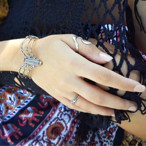 Wishbone Indian Silver Bracelet Bangle