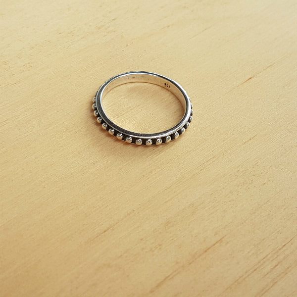Silver Dotty Stacker Ring