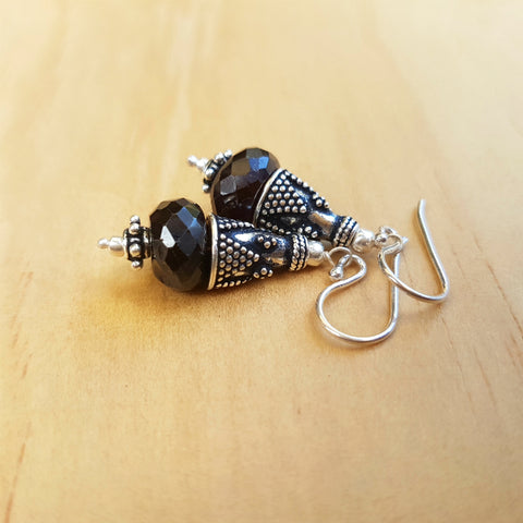 Garnet Artisan Beaded Earrings