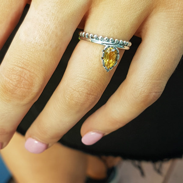 Citrine Lois Lane Stacker Ring