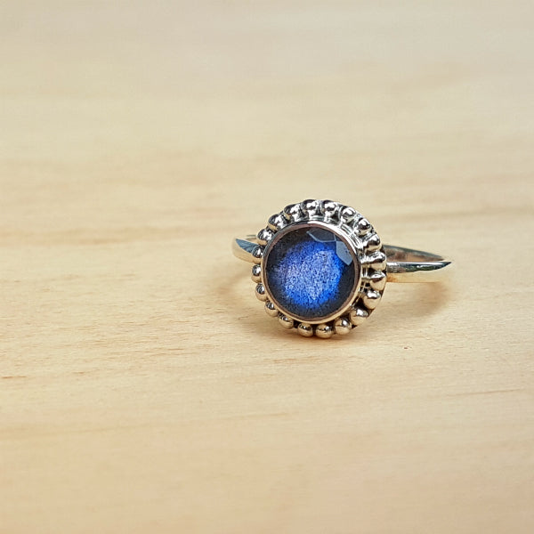 Labradorite Dotty Ring