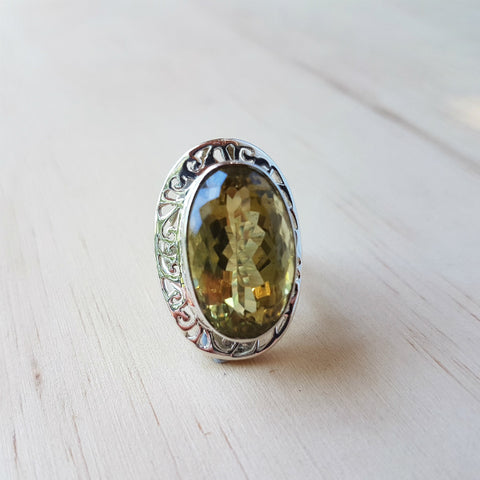 Lemon Quartz Asha Ring