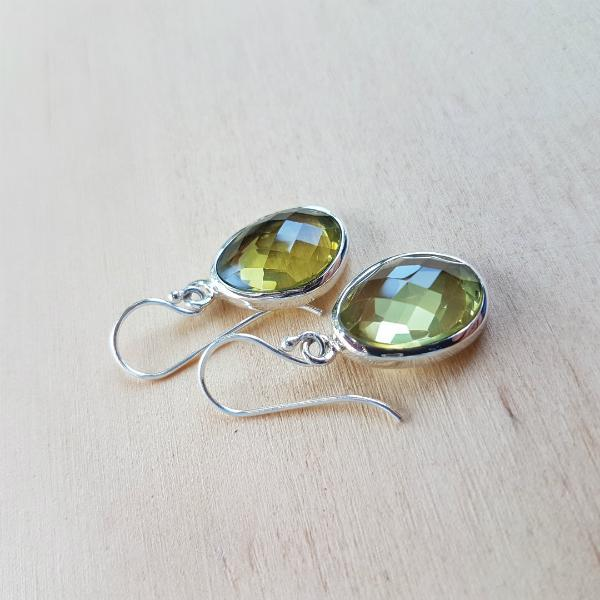Lemon Quartz Polki Earrings