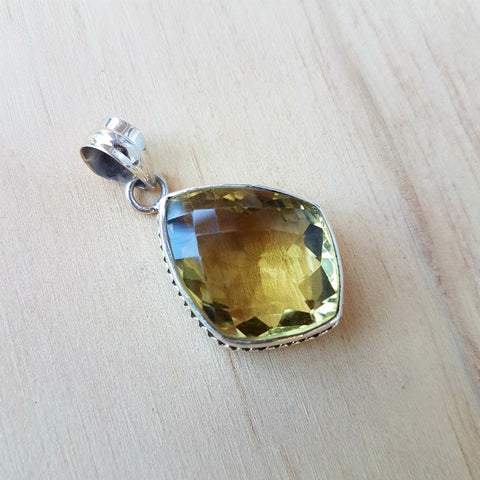 Lemon Quartz Ethnic Pendant