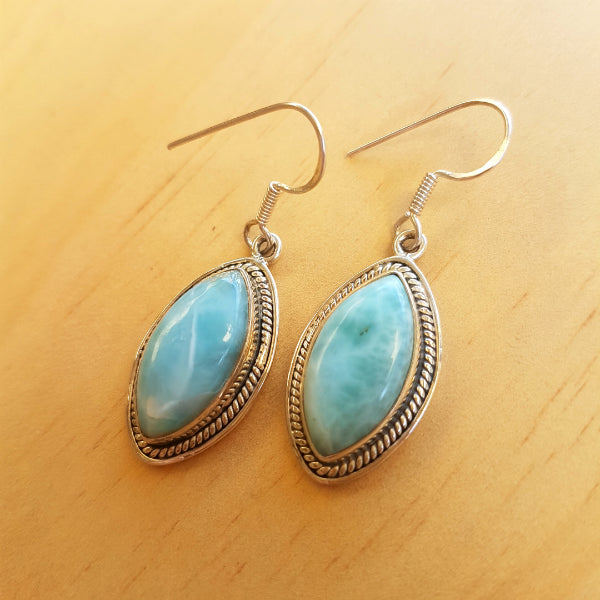 Marquise Larimar Earrings