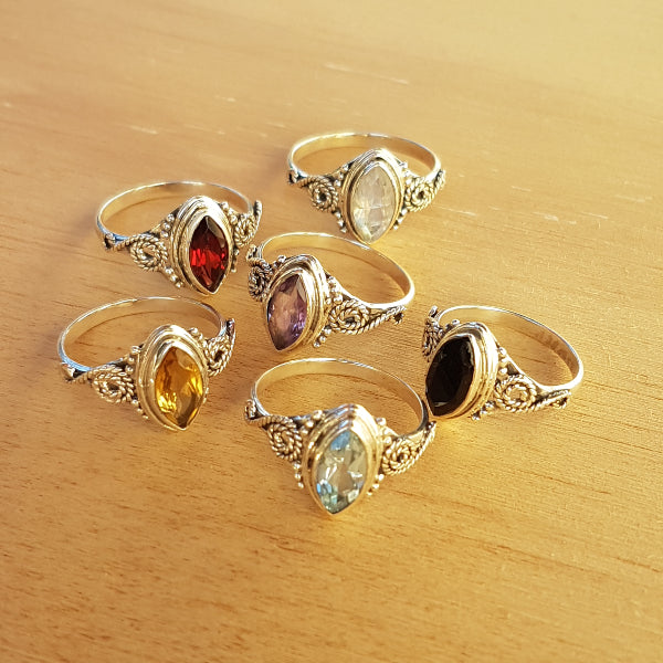 Rainbow Moonstone Miri Ring