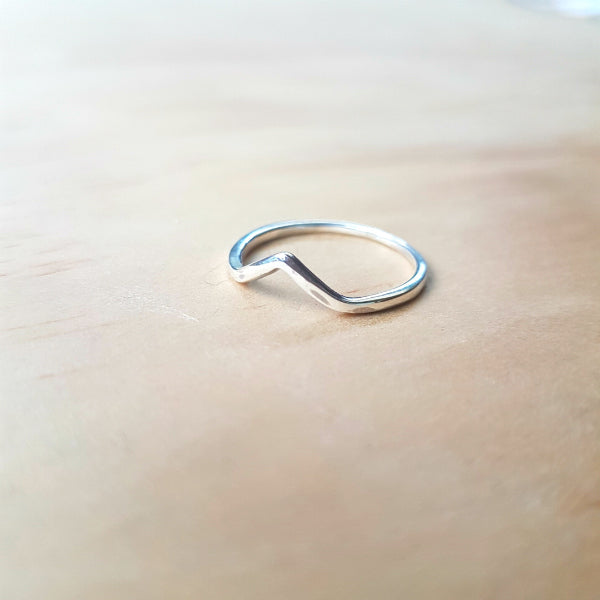 Mini Half Wishbone Ring - Inspired Tribe Silver Jewellery