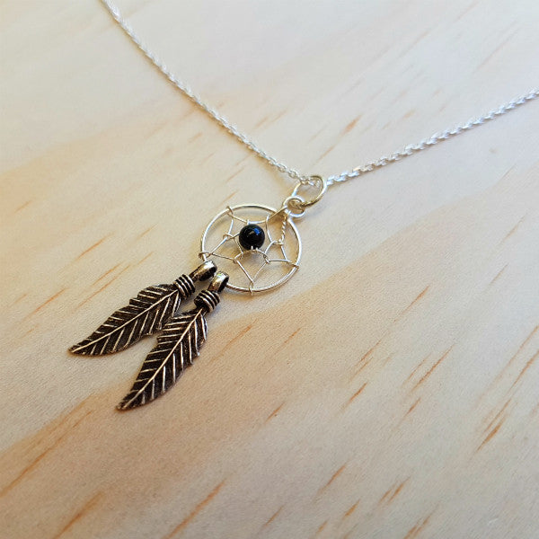 Mystic Dreamcatcher Pendant - Inspired Tribe Silver Jewellery