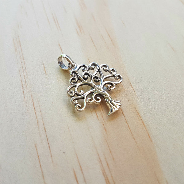 Silver Tree of Life Heart Pendant - Inspired Tribe Silver Jewellery