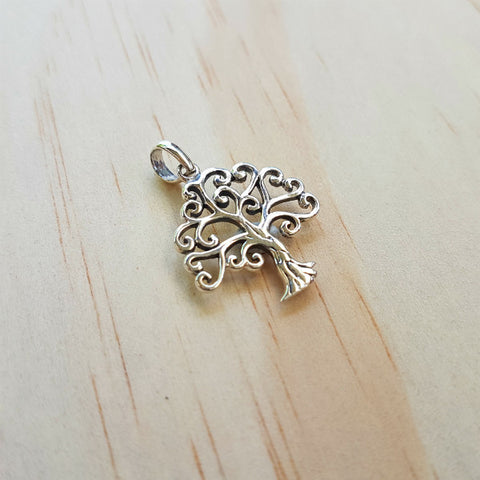 Silver Tree of Life Heart Pendant