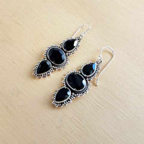 Black Onyx Bakula Earrings