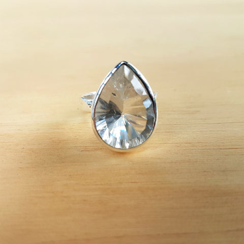Crystal Quartz Teardrop Grace Ring