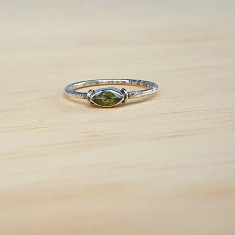 Peridot Mini Marquise Ring