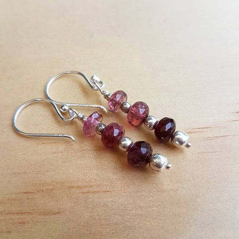 Tourmaline Beaded Earrings - Inspired Tribe Silver Jewellery