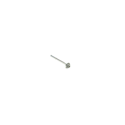 Cubic Zirconia Nose Stud - Inspired Tribe Silver Jewellery