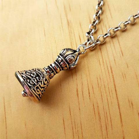 Buddhist Bell Pendant - Inspired Tribe Silver Jewellery