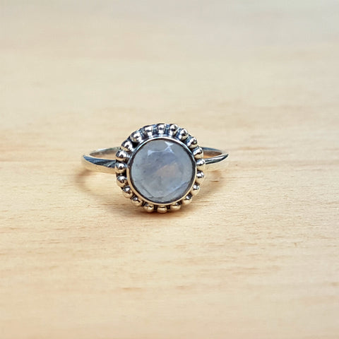 Rainbow Moonstone Dotty Ring