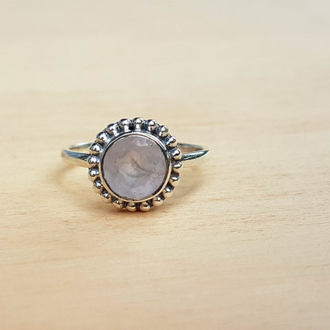 Rose Quartz Dotty Ring