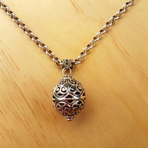 Hollow Filigree Sphere Pendant