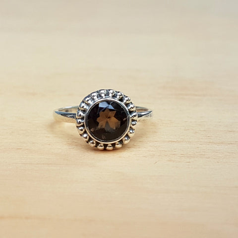 Smokey Quartz Dotty Ring