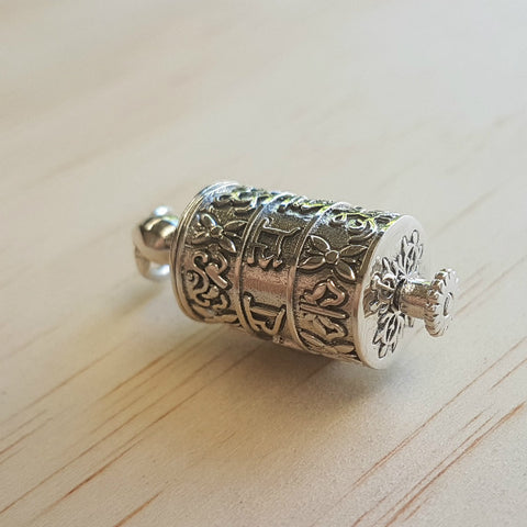 Tibetan Prayer Wheel Pendant