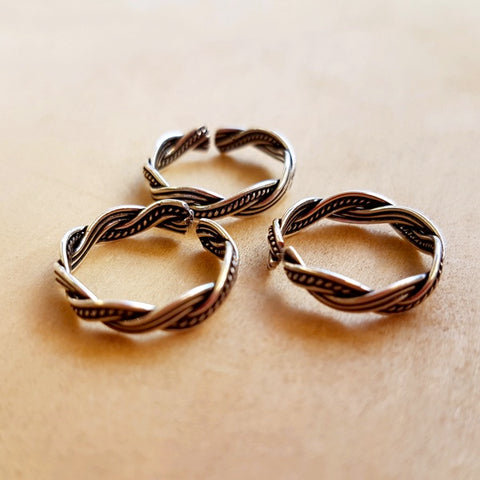 Braided Sterling Silver Toe Ring
