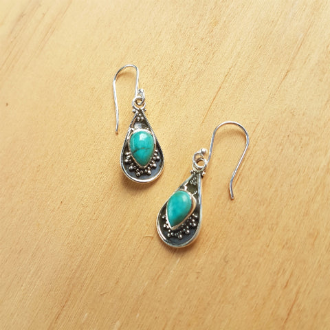 Turquoise Mini Haha Earrings
