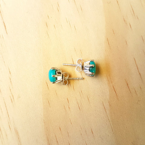 Prong Set Turquoise Studs
