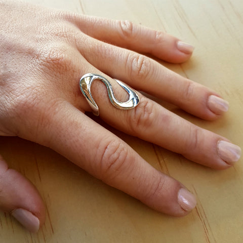 Silver Twist Ring - Inspired Tribe Silver Jewellery