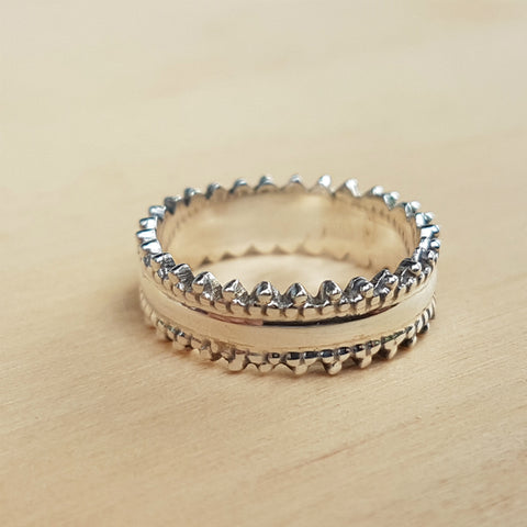 Silver Wide Stacker Ring