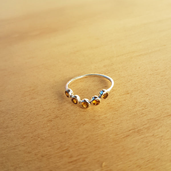 Citrine Arc Ring