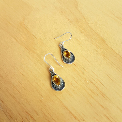 Citrine Mini Haha Earrings