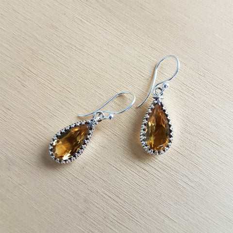 Citrine Artisan Earrings