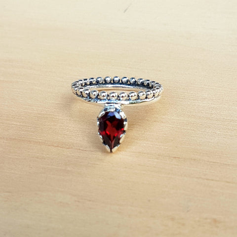 Garnet Lois Lane Stacker Ring