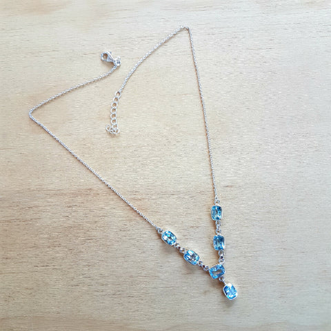 Blue Topaz Grace Necklace