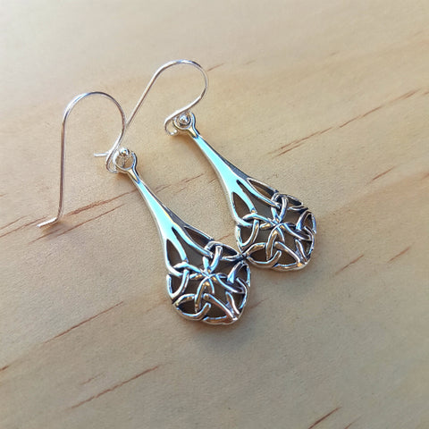 Silver Celtic Knot Earrings - Inspired Tribe Silver Jewellery