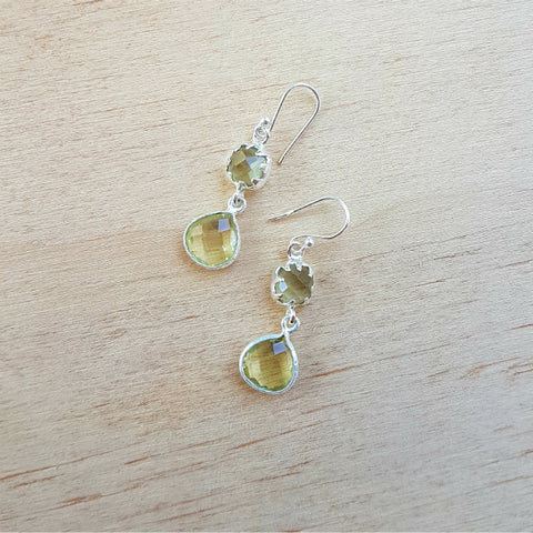 Lemon Quartz Aaravi Earrings