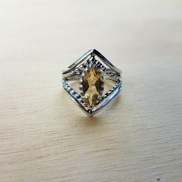 Citrine Marquise Claw Ring