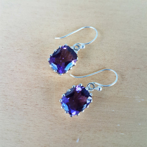 Amethyst Panja Earrings