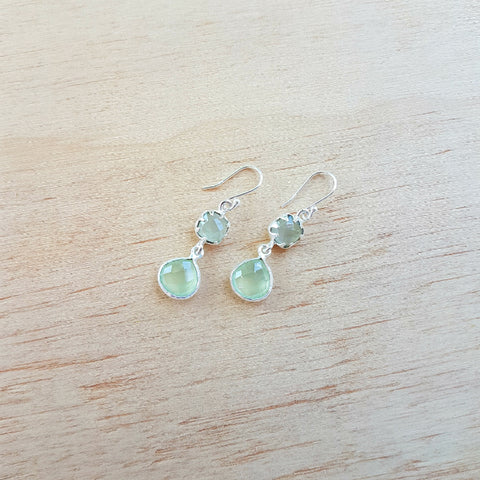 Prehnite Aaravi Earrings