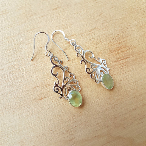 Prehnite Champa Earrings