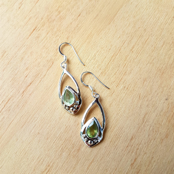 Prehnite Yasmeen Earrings
