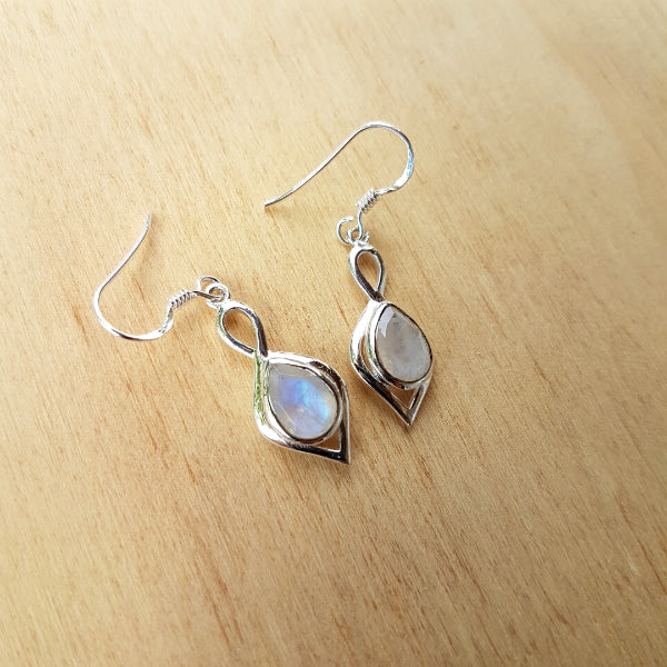 Rainbow Moonstone Padmini Earrings