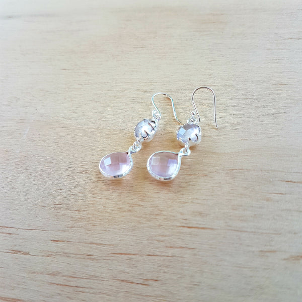 Rose Quartz Aaravi Earrings