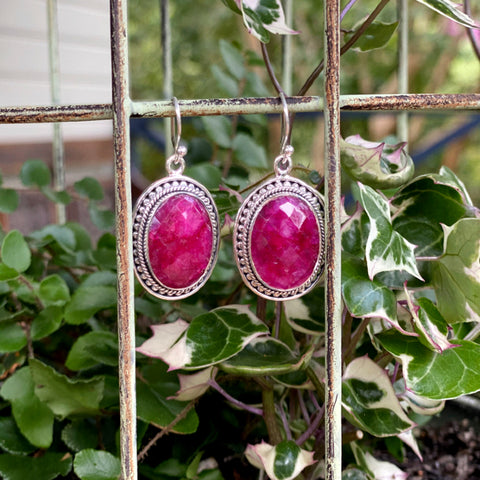 Ruby Rose Cut Earrings